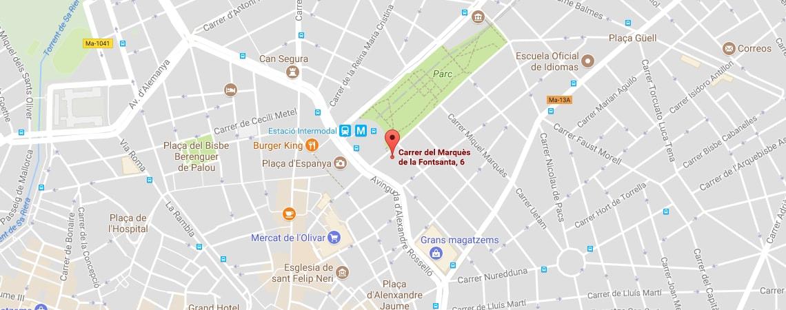 Mapa Mallorca - Marqués de Fontsanta