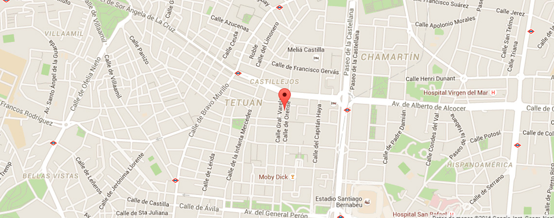 Mapa Madrid - Orense