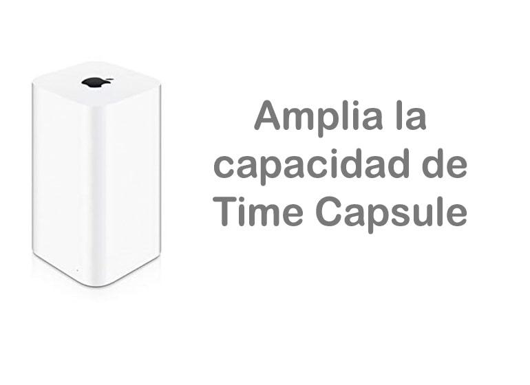 Amplía la capacidad de tu Time Capsule
