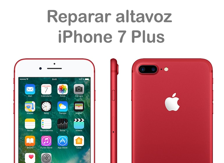Cambiar altavoz roto de iPhone 7 en Servicio Técnico Productos Apple