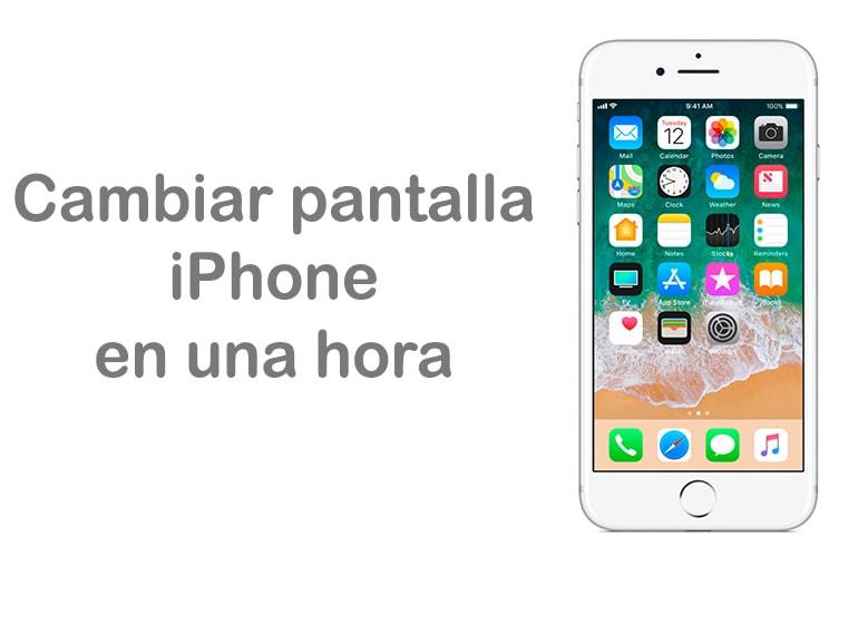Cambiar la pantalla de iPhone en una hora