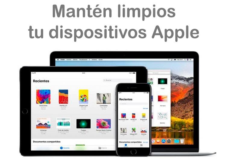 Cómo limpiar los productos de Apple
