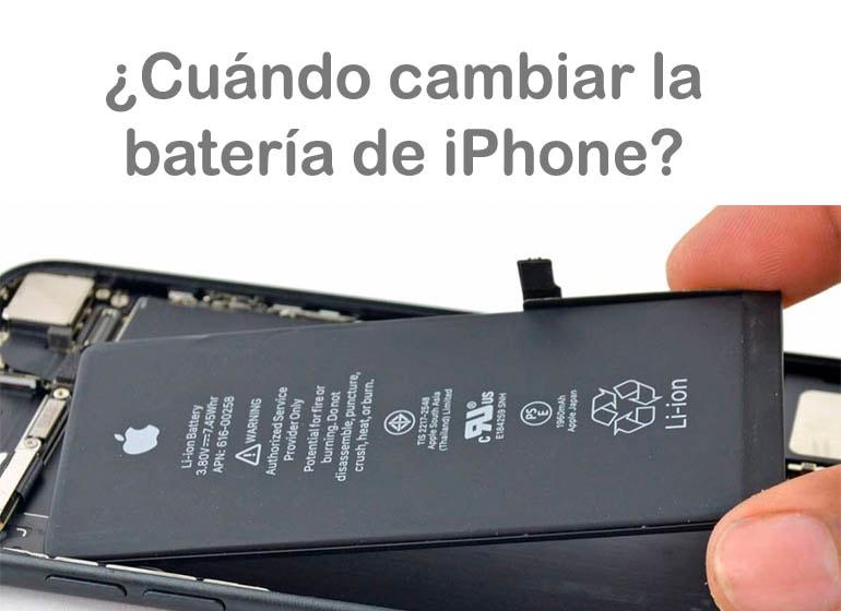 ¿Cada cuánto tiempo es recomendable cambiar la batería de los iPhone?