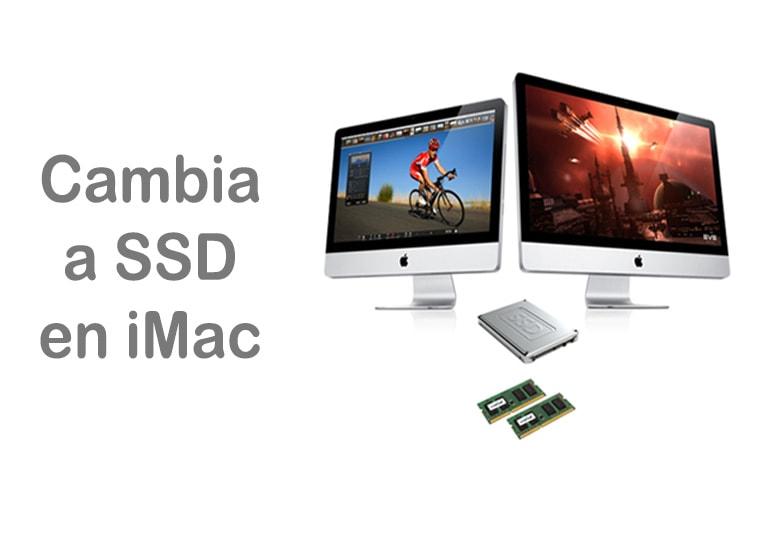 Cambia el disco duro de tu iMac por SSD, o bien, dispón de ambos